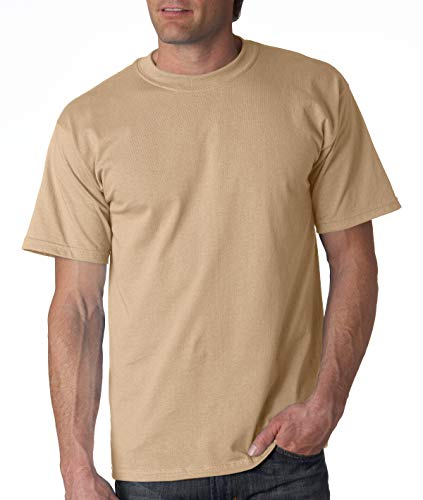 Gildan Cotton 6 oz. T-Shirt (G200) Tan, 4XL (Tan T-shirt Tee)