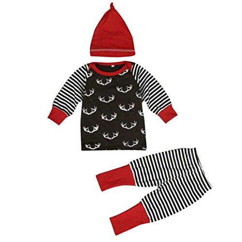 EKIMI Infant Baby Girl Boy Top Romper Pants Leggings Outfits Set Costume (0-3M)