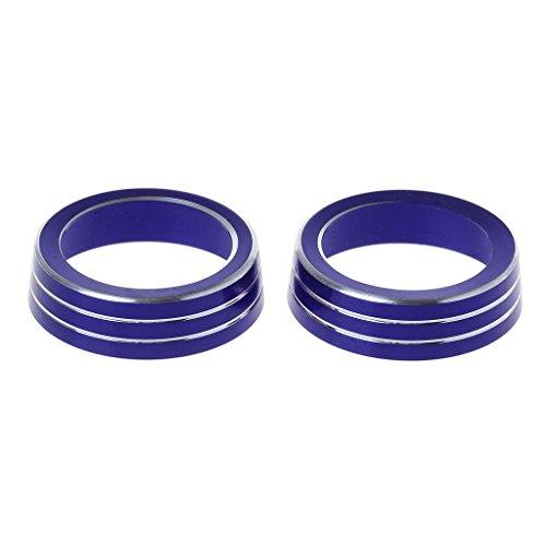 Hardli 2X Aluminum Ring Knob Trim Cover for Honda Civic Sedan Coupe Hatchback,Air Conditioner Accessories ()