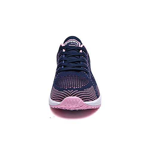 Monrinda Lace Absorbing Ladies Sneakers Sneakers Running Breathable Pink Sport Shoes Walking Shock Comfy Blue Grey Pink White Blue Casual Women Gym Lightweight Black Shoes Up zrXwrq7