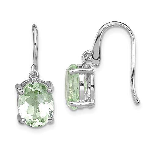 (925 Sterling Silver Green Quartz Wire Drop Dangle Chandelier Earrings Fine Jewelry Gifts For Women For Her )