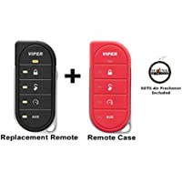 Viper 7856V 2 Way LED Remote Transmitter with a Red Colored Cover 87856VR and a FREE SOTS Air Freshener