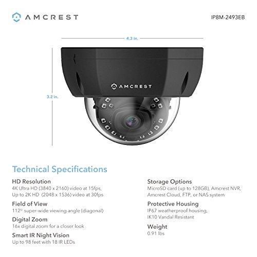 4e914a94c2c8 ... Amcrest UltraHD 4K (8MP) Dome POE IP Camera Security