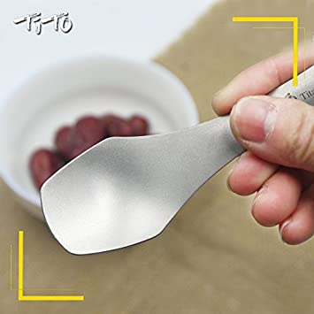 TITO Titanium Spoon with High Strength and Ultralight Titanium Spork for Outdoor Camping and Hiking.