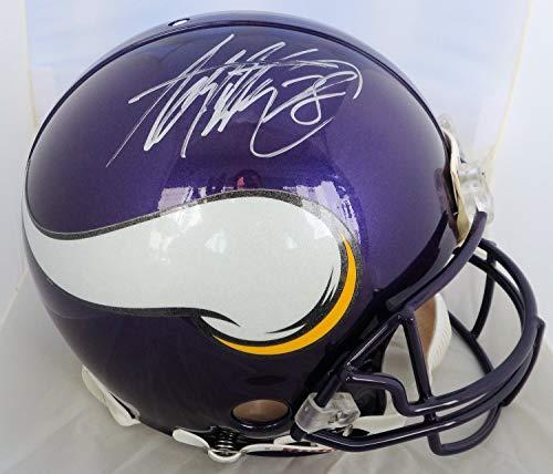 - Adrian Peterson Autographed Signed Minnesota Vikings Pro Line Full Size Helmet Memorabilia - JSA Authentic