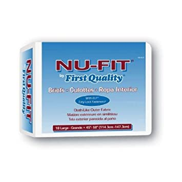 First Quality Nu-Fit Adult Briefs - First Quality Adult Brief Large NU-013
