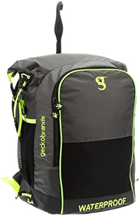 geckobrands Dueler Waterproof 32L Backpack, Use for Nearly Any Sport, 2 compartments, Separate Wet from Dry, Personalize