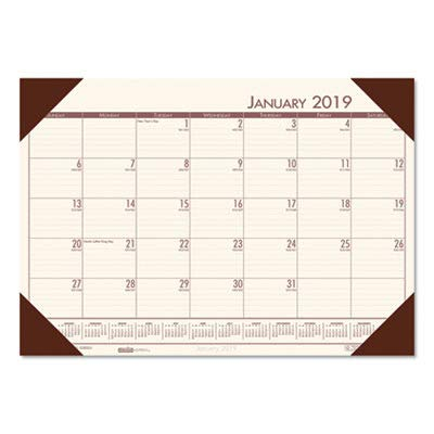 House of Doolittle EcoTONES Monthly Desk Pad Calendar, 4-Corner Holder, 2013, 22