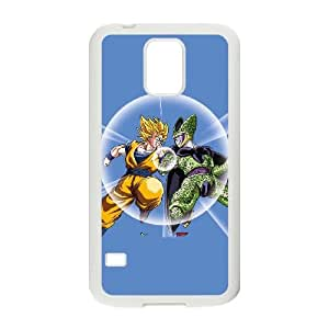 Samsung Galaxy S5 Cell Phone Case White_Dragon Ball Z Goku & Cell Dzrdx