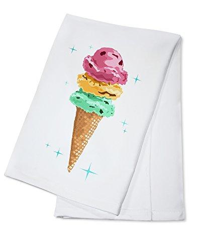 Retro Ice Cream Cone (100% Cotton Kitchen Towel)