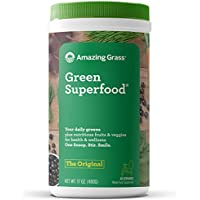 Amazing Grass Green Superfood Organic Powder w/Wheat Grass and Greens (60 Servings)