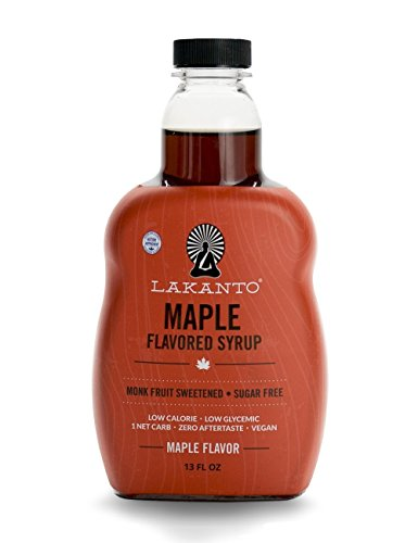 Lakanto Maple Flavored Sugar-Free Syrup, 1 Net Carb (Maple Syrup, 13 ()