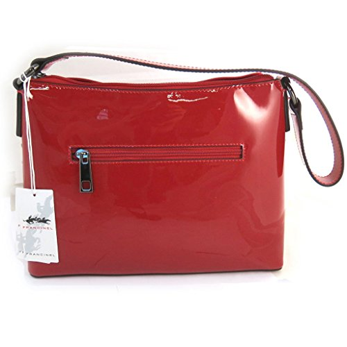 Bolsa 'french touch' 'Scarlett'rojo (barniz).