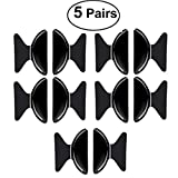 VIEEL 5 Pairs Nose Pads 1.8mm Anti-slip Adhesive Contoured Soft Silicone Nose Cushions for Eyeglasses/Sunglasses/Glasses Spectacles (Black butterfly)