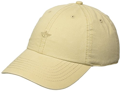 Dockers Men's Core Tonal Embroidered Logo Dad Baseball Hat, Khaki, One Size