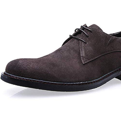 Moda Rotonda Uomo da Black Stringate Pelle Lavoro da Traspiranti Scarpe da Lavoro Testa Scarpe in Casual Comfort TBUqW6