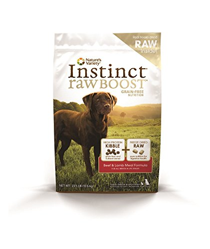 Nature's Variety Instinct Raw Boost Grain Free Beef & Lamb Meal Formula Dry Dog Food, 23.5 lb. Bag
