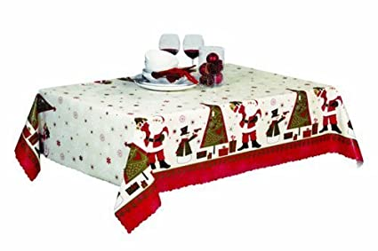 The Tablecloth Shop Santa S Christmas Tree Christmas Wipe Clean