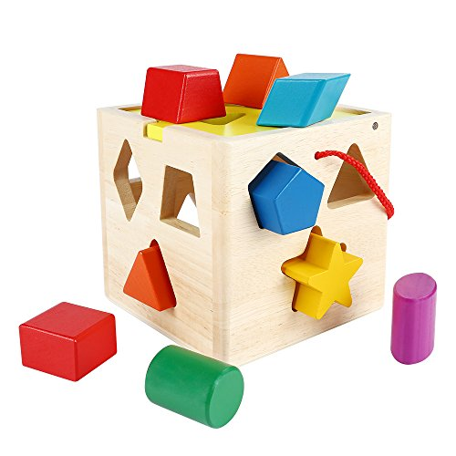 sainsmart-jr-cb-26-13-holes-wooden-shape-sorter-geometric-sorting-box-cognitive-matching-wooden-bloc