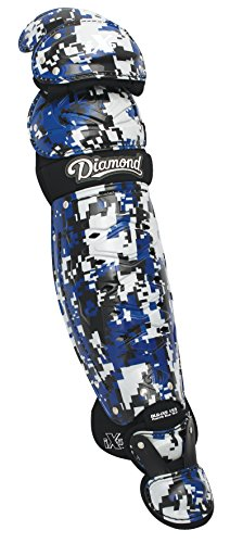 Diamond Dlg-Ix5 Edge Camo Baseball Catcher's Leg Guards - 17.5 Inch - Royal