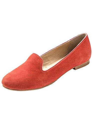 Balsamik - Slipper aus Veloursleder, Komfortweite - Damen Koralle
