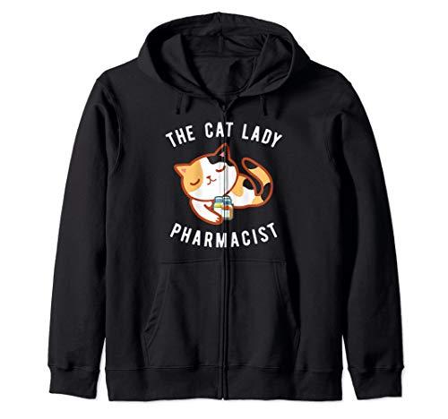 Calico Cat Lady Pharmacist Kitty Druggist Zip Hoodie