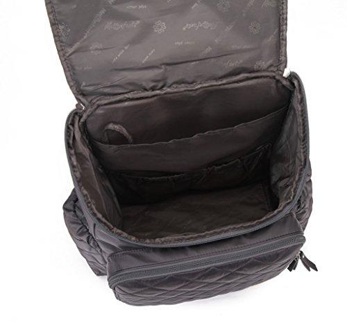 MSF multifunción Smart organizador sistema mochila bebé pañal bolsa de pañales con cambiador correas para el carrito gris gris