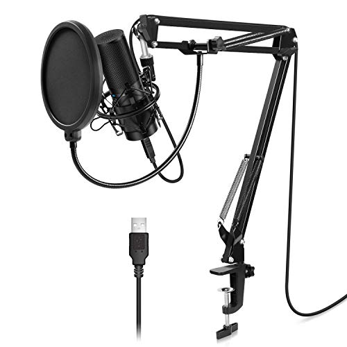 (TONOR USB Microphone Kit Q9 Condenser Computer Cardioid Mic for Podcast, Game, Youtube Video, Stream, Recording Music, Voice Over)
