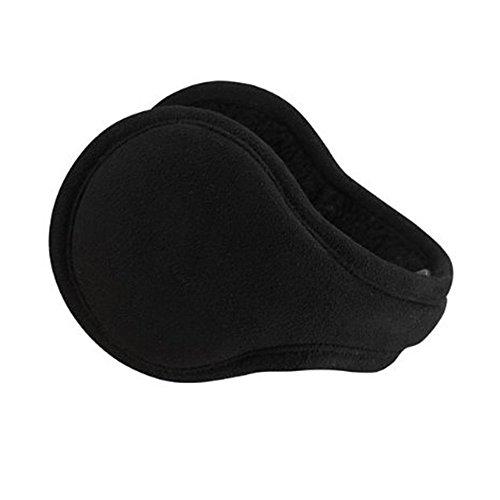 Flammi Men Women Foldable Ear Warmers Behind Head Earmuffs (Black)