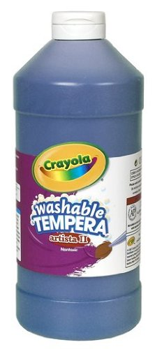 Crayola Washable Paint, Blue Paint, Classroom Supplies, 32 Ounce (Paint Blue Poster)
