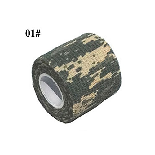 LING'S SHOP New Camouflage Duct Tape Rifle Gun Stealth Wrap Hunting Desert Shooting Decor (01# ACU Digital)