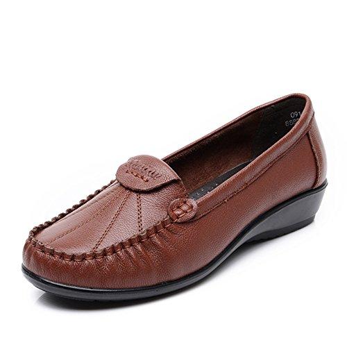zapatos asakuchi madre/Mitad inferior suave y talla de las mujeres de edad/Zapatos de tacón plano C