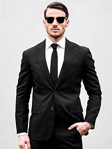 Knight For Pants Men Opposuits Black With Coming Coloured Tie And Solid Jacket Suits q147t