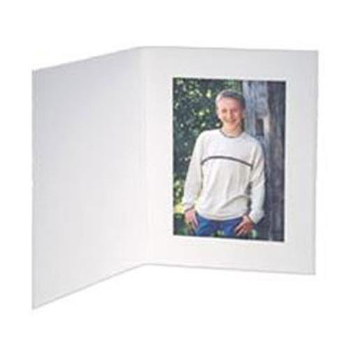 Contemporary White Portrait Folders For 8.5x11 Photos or Documents (25 Pack) ()