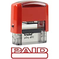 Paid Self Inking Rubber Stamp - Red Ink