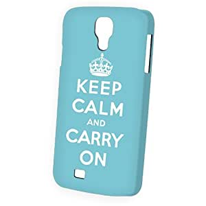 Case Fun Samsung Galaxy S4 (I9500) Case - Vogue Version - 3D Full Wrap - Blue Keep Calm and Carry On