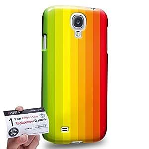 Case88 [Samsung Galaxy S4] 3D impresa Carcasa/Funda dura para & Tarjeta de garantía - Art Hand Drawing Rainbow Flag