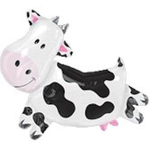 11 pc 2nd Birthday Cow Balloon Bouquet Happy Decoration Farm Animal Second Girl Anagram SG/_B01E1Q55A8/_US