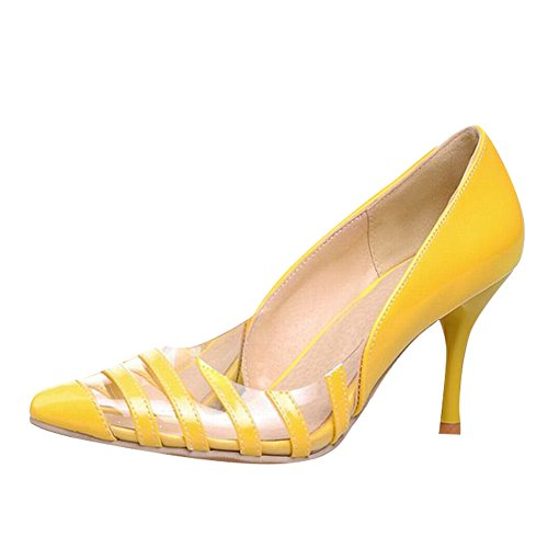 Pointed Stiletto Yellow Toe Women's Heel New Shoes Carol Pumps High Style Shoes 0IfBq