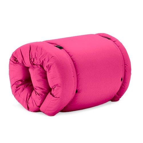 Changing Sofas Pink Cotton Twill Brooklyn Roll Up Camping Futon Mattress