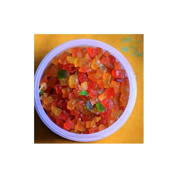 dhanesh spices Mix Colour Tutti Frutti   Cherry   Fresh Fruits   tooty frooty (1.8 kg)