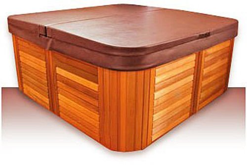 Replacement Hot Tub Covers Standard Cover - 84'' x 84'' x 6''R, 4'' Skirt (Chestnut) by Replacement Hot Tub Covers