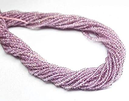 """Natural Gem Pink Chalcedony Micro Faceted 2.5MM Size Rondelle Beads Strand 13/"""""""