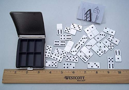 (Metal Miniature Dominoes Set w/Metal Travel Case)