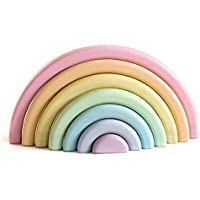 Grimm's Puzzle Rainbow Multicoloured, Stacker Pastel Stacking Nesting