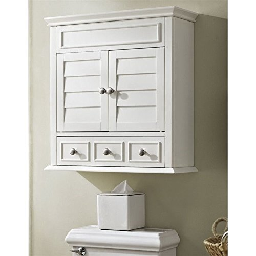 Crosley Lydia Wall Cabinet, White