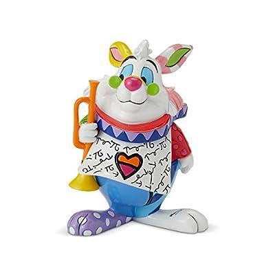 "Enesco Alice in Wonderland ""White Rabbit"" from Disney by Britto Line Figurine 2.95 Inches Multicolor"