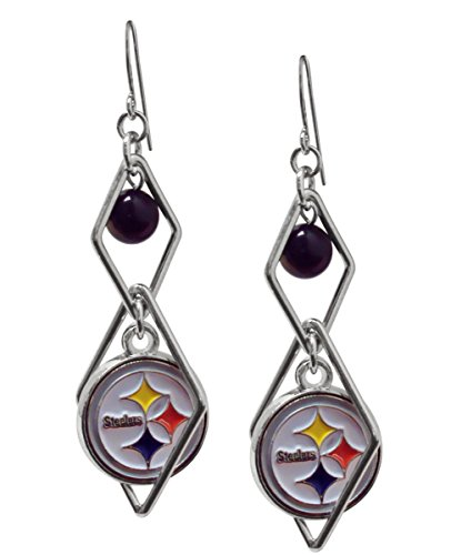- NFL Pittsburgh Steelers Triangle Logo Dangler Earrings