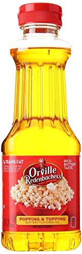 s Buttery Flavor Popping & Topping Popcorn Oil, 16 Oz. (Orville Redenbacher Oil)