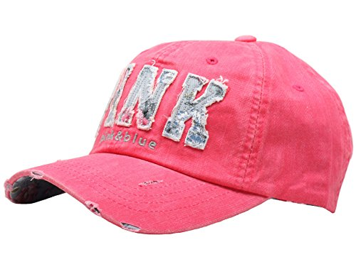 - Raon B82 Sexy Women Girl Flower PINK Cute Lady Design Ball Cap Baseball Hat Truckers (HotPink)